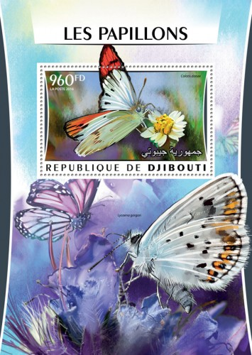 Butterflies (Colotis danae) | Stamps of DJIBOUTI