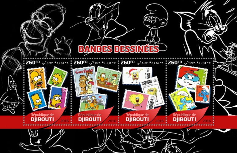 Cartoon stamps | Stamps of DJIBOUTI