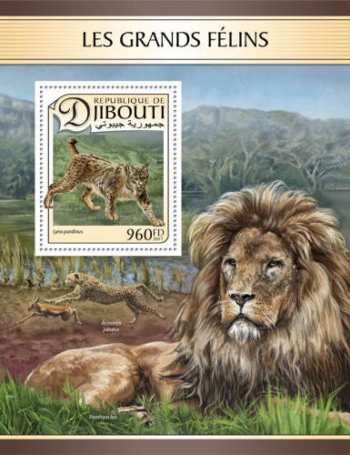 Big cats (Lynx pardinus) | Stamps of DJIBOUTI