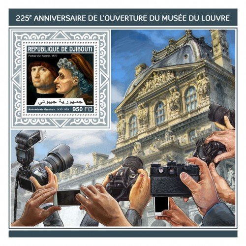 "225th anniversary of the opening of Louvre (Antonello da Messina (c. 1430–1479) ""Portrait of a man"", 1475) 