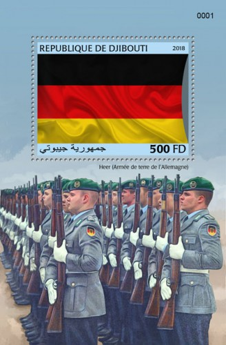 German army (locals) | Stamps of DJIBOUTI