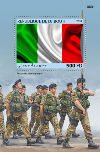 Italian army (locals) | Stamps of DJIBOUTI