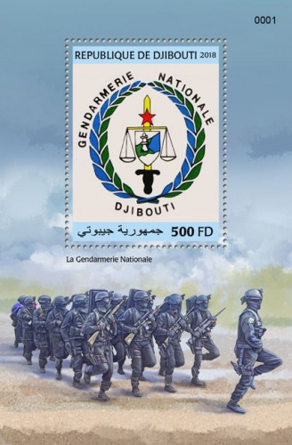 The National Gendarmerie (locals) | Stamps of DJIBOUTI