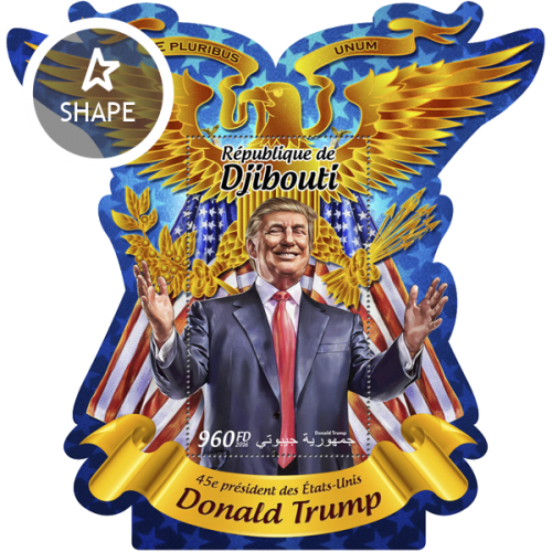 45th president of the United States Donald Trump (Donald Trump) | Stamps of DJIBOUTI